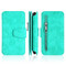 3-IN-1 Luxury Coach Series Leather Wallet with Detachable Magnetic Case for iPhone XS / X - Teal