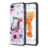 FunShield Series Ring Case for iPhone 8 Plus / 7 Plus / 6S Plus / 6 Plus - Bird and Butterfly