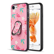 FunShield Series Ring Case for iPhone 8 / 7 / 6S / 6 - Flamingo Love