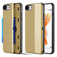 Kard Series Dual Hybrid Case with Card Slot and Magnetic Kickstand for iPhone iPhone 8 / 7 - Gold