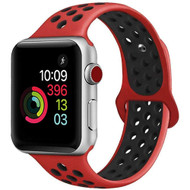 Soft Breathable Sport Band Strap for Apple Watch 44mm / 42mm - Red Black