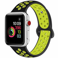 Soft Breathable Sport Band Strap for Apple Watch 44mm / 42mm - Black Volt