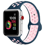 Performance Sports Silicone Watch Band for Apple Watch 44mm / 42mm - Blue Pink