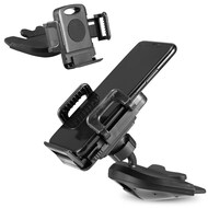 CD Slot Car Mount Cradle Holder - Black