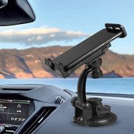 Adjustable Car Windshield Mount Phone Holder - Black
