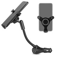 360 Rotating Flexible Gooseneck Car Mount Phone Holder with Dual USB Charger