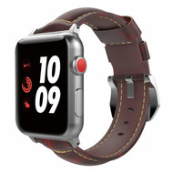 *SALE* Genuine Cowhide Leather Watch Band for Apple Watch 44mm / 42mm - Chocolate
