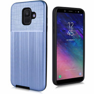 Double Texture Anti-Shock Hybrid Protection Case for Samsung Galaxy A6 (2018) - Navy Blue