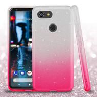 Full Glitter Hybrid Protective Case for Google Pixel 3 - Gradient Pink