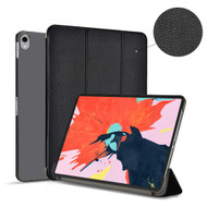 *FINAL SALE* Smart Leather Hybrid Case with Translucent Back Cover for iPad Pro 11 inch - Black