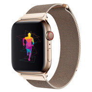 Magnetic Stainless Steel Mesh Strap Watch Band for Apple Watch 44mm / 42mm - Gold