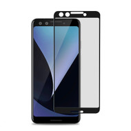Premium Full Coverage 2.5D Tempered Glass Screen Protector for Google Pixel 3 - Black