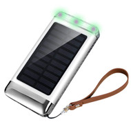 *SALE* Solar Powered Power Bank Battery Charger 7200mAh with Triple USB Ports - White