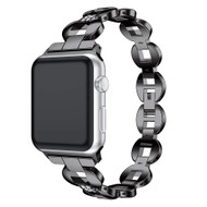Stainless Steel Diamond Chain Watch Band for Apple Watch 44mm / 42mm - Black
