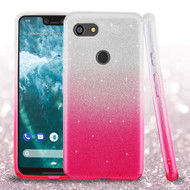 Full Glitter Hybrid Protective Case for Google Pixel 3 XL - Gradient Pink