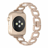 *SALE* Chic Design Stainless Steel Chain Watch Band for Apple Watch 44mm / 42mm - Gold