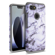 Hybrid Multi-Layer Armor Case for Google Pixel 3 XL - Marble White