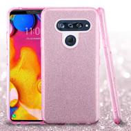 Full Glitter Hybrid Protective Case for LG V40 ThinQ - Pink