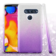 Full Glitter Hybrid Protective Case for LG V40 ThinQ - Gradient Purple