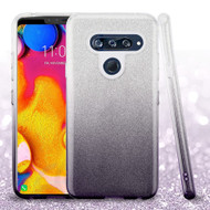 Full Glitter Hybrid Protective Case for LG V40 ThinQ - Gradient Black
