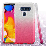 Full Glitter Hybrid Protective Case for LG V40 ThinQ - Gradient Pink