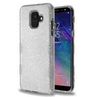 Tuff Full Glitter Hybrid Protective Case for Samsung Galaxy A6 (2018) - Silver