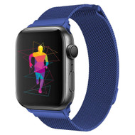 Magnetic Stainless Steel Mesh Strap Watch Band for Apple Watch 44mm / 42mm - Blue