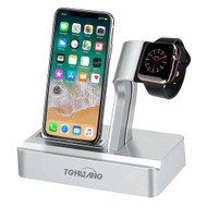 *SALE* 2-IN-1 Dock Stand Charging Station for Apple Watch and iPhone with Lightning Connector - Silver