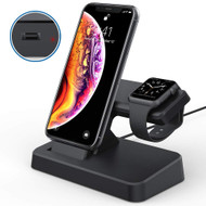 Power Station Charging Dock for Apple Watch and iPhone with Lightning Connector - Black