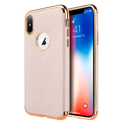 timeless design ade97 d689d Saffiano Luxury Fusion Case for iPhone XS Max - Rose Gold - HD Accessory