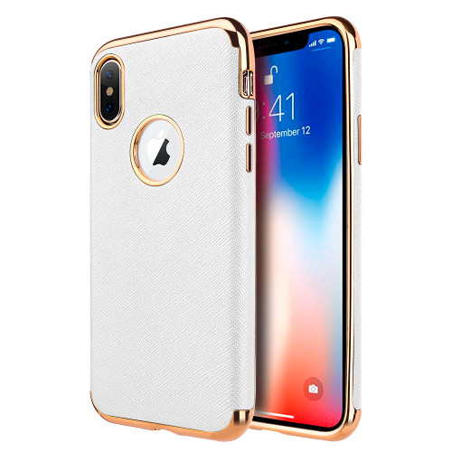 Saffiano Luxury Fusion Case For Iphone Xs Max White Hd