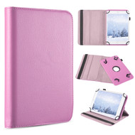 *Sale* Universal 360 Degree Rotating Leather Folio Kickstand Case - Pink