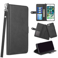 3-IN-1 Infinity Series Luxury Leather Wallet Case for iPhone 8 Plus / 7 Plus / 6S Plus / 6 Plus - Black