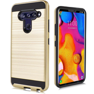 *Sale* Brushed Coated Hybrid Armor Case for LG V40 ThinQ - Gold