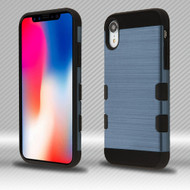 Military Grade TUFF Trooper Dual Layer Hybrid Armor Case for iPhone XR - Brushed Slate Blue