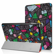 *Sale* Premium Smart Leather Hybrid Case and Screen Protector for iPad (2018/2017) / iPad Air - Stained Glass
