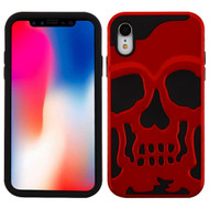 Military Grade Certified Skullcap Hybrid Case for iPhone XR - Red