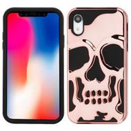 Military Grade Certified Skullcap Hybrid Case for iPhone XR - Rose Gold