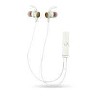 Magnetic Absorbing Bluetooth V4.1 Wireless Sweatproof Headphones with Microphone - White