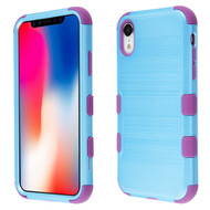 Military Grade Certified Brushed TUFF Hybrid Case for iPhone XR - Baby Blue Purple