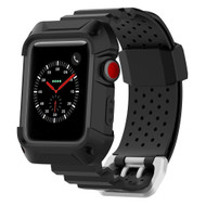 *SALE* Rugged Protective Case with Strap Band for Apple Watch 38mm - Black