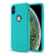 Dual Max Series Hybrid Armor Case for iPhone XS / X - Mint Green