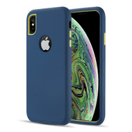 Dual Max Series Hybrid Armor Case for iPhone XS / X - Navy Blue Green