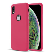 Dual Max Series Hybrid Armor Case for iPhone XR - Hot Pink
