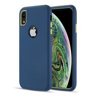 Dual Max Series Hybrid Armor Case for iPhone XR - Navy Blue Green