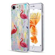 Decoration Series Holographic Printing Transparent Fusion Case for iPhone 8 / 7 / 6S / 6 - Flamingo