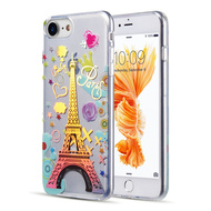 Decoration Series Holographic Printing Transparent Fusion Case for iPhone 8 / 7 / 6S / 6 - Eiffel Tower