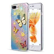 Decoration Series Holographic Printing Transparent Fusion Case for iPhone 8 Plus / 7 Plus / 6S Plus / 6 Plus - Butterfly