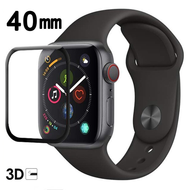 3D Curved Full Coverage Tempered Glass Screen Protector for Apple Watch 40mm Series 5 / Series 4 - Black