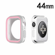 Performance Sports Bumper Case for Apple Watch 44mm Series 4 - Pink White